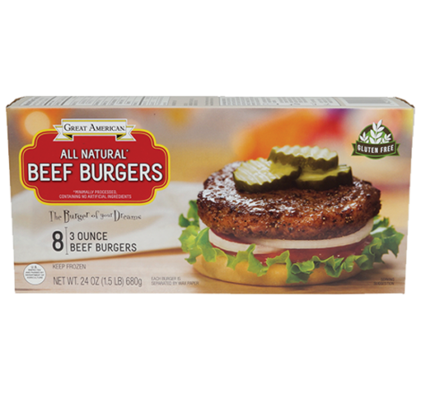 3 Ounce Beef Burgers image
