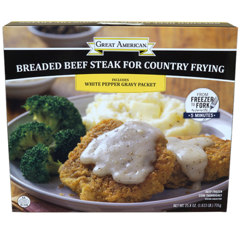 Breaded Beef Steak for Country Frying image