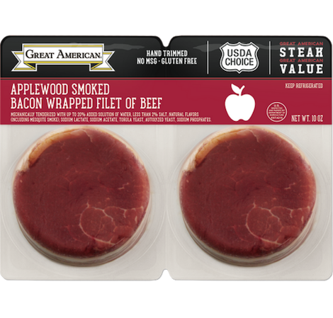 Applewood Smoked Bacon Wrapped Filet of Beef image